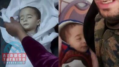فيديو متداول لوفاة طفلة رضيعة بالشمال السوري بسبب الجوع