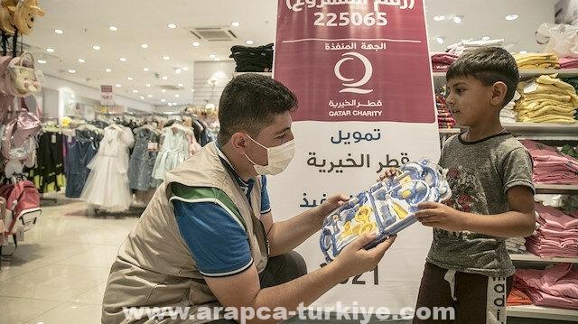 """هطاي.. """"الإغاثة"""" التركية و""""قطر الخيرية"""" تساعدان أيتاما سوريين"""