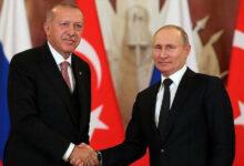 تلبيةً لدعوة بوتين.. أردوغان يجري زيارة عمل إلى روسيا الأربعاء