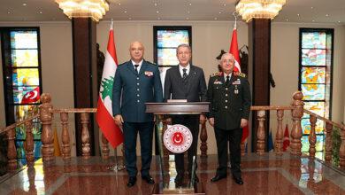 أنقرة.. وزير الدفاع التركي يلتقي رئيس الأركان اللبناني