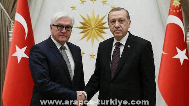 الرئيس أردوغان يبحث مع نظيره الألماني قضايا إقليمية