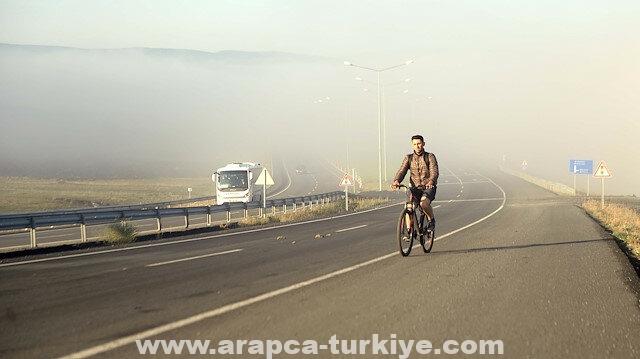 تركيا.. الضباب يرسم لوحات ساحرة في أردهان